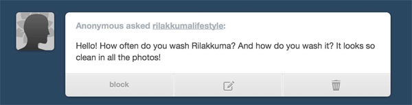 Rilakkuma Lifestyle Tumblr - cleaning ask