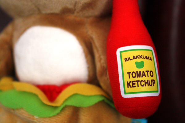 Hamburger Rilakkuma - ketchup bottle detail