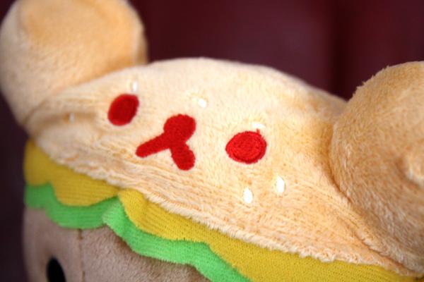 Hamburger Rilakkuma - hat detail
