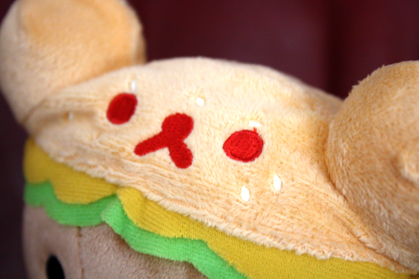 Hamburger Rilakkuma - hat detail