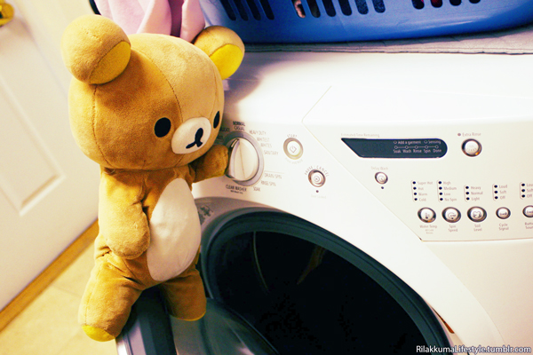 Rilakkuma Lifestyle Tumblr - laundry