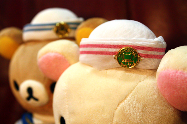 Marine Series Rilakkuma and Korilakkuma - hat detail