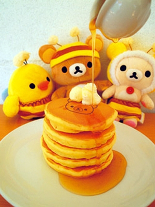 Rilakkuma meets Pancake Days - 5 tier stack