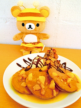 Rilakkuma meets Pancake Days - chocolate and orange stack