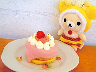 Rilakkuma meets Pancake Days - strawberry stack