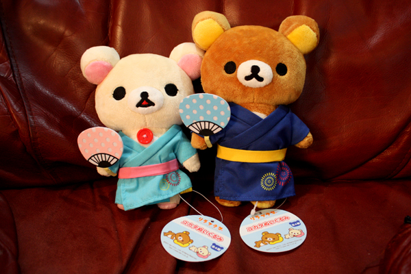 Yukata Rilakkuma and Korilakkuma - full body shot
