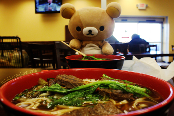 Noodle lunch with Rilakkuma