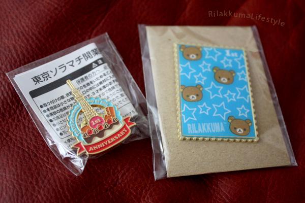 Tokyo Skytree 1st Anniversary - pins