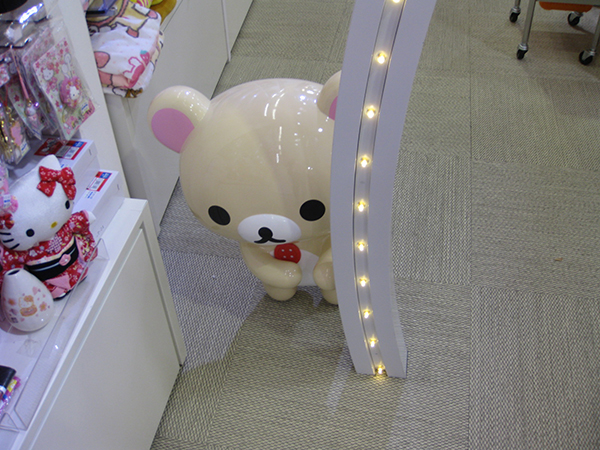 Harajuku Rilakkuma Store - side Korilakkuma