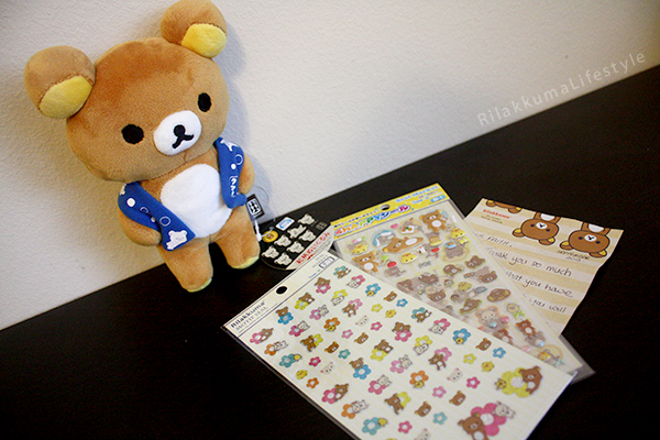 Wagara Rilakkuma UFO Catcher - stickers