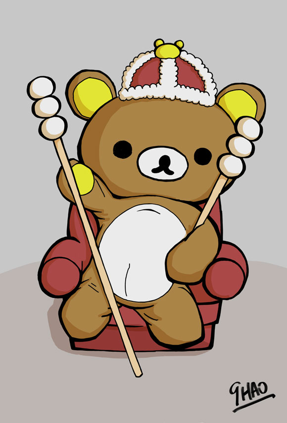 Rilakkuma Art - Royal BD Bear