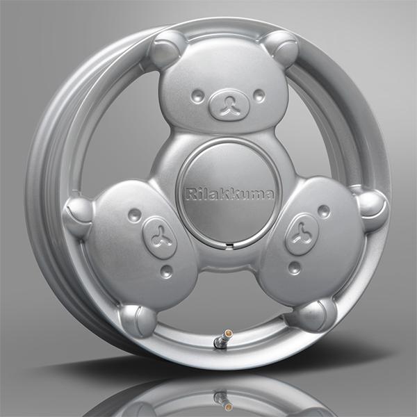 MLJ - Rilakkuma hubcap silver