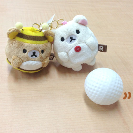 Rilakkuma Golf Ball Holders - front