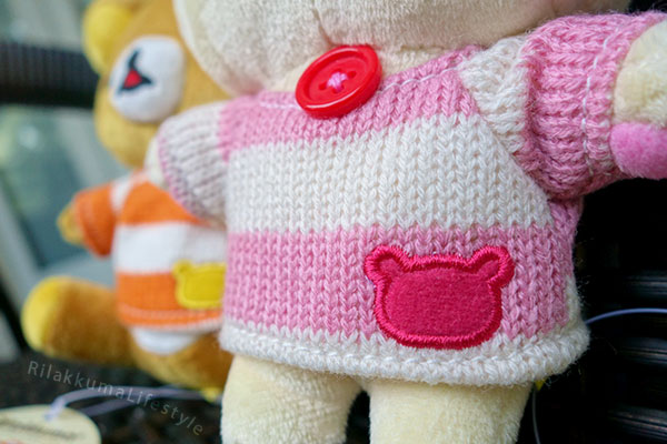 Fansclub Striped Knit Series - Korilakkuma sweater detail