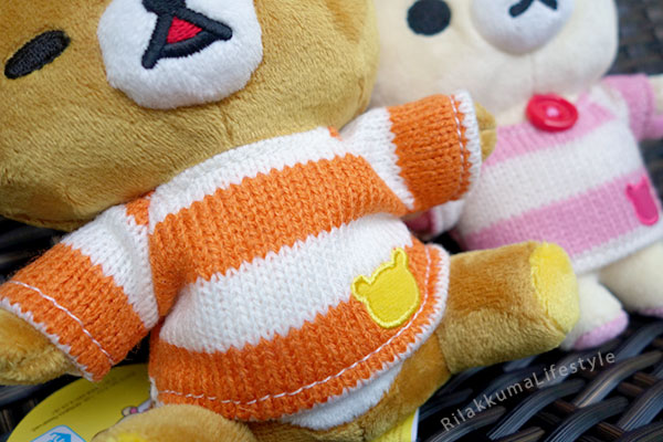 Fansclub Striped Knit Series - Rilakkuma sweater detail
