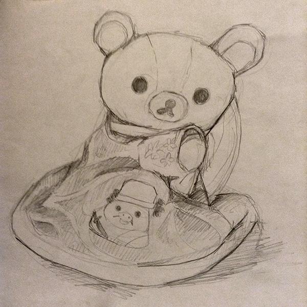 La Japonaise Rilakkuma - sketch
