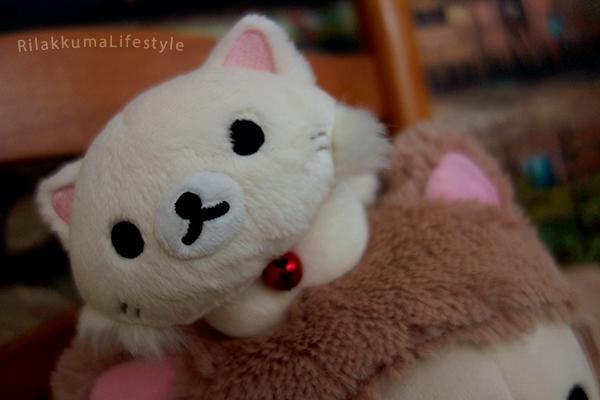 Rilakkuma Cat Series Net Shop Exclusive スぺシャルネコぬいぐるみ - Korilakkuma kitten detail