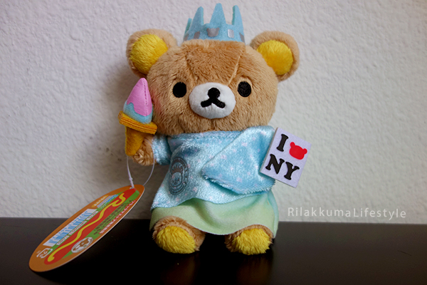 Tokyo Station Rilakkuma Store 7th Anniversary - New York City NYC - Statue of Liberty - 東京駅店7周年は 「アメリカNY」 ぬいぐるみ - full