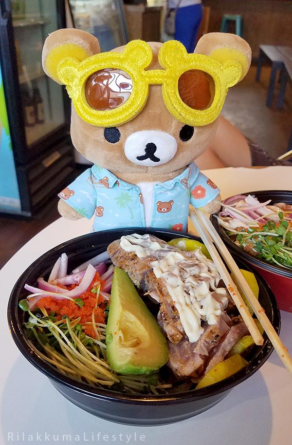 Rilakkuma Lifestyle in Hawaii - Paina Cafe - Poke