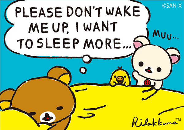 Please Don't Wake Me Up, I Want To Sleep More - Rilakkuma - June 2017 - リラックマ