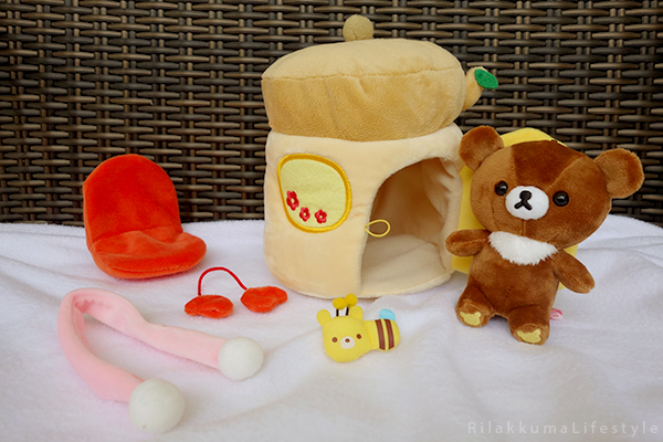てぶくろをとどけに - チャイロイコグマの どんぐりのおうちセット - Kogumachan - Chairoikoguma - Handmade Mittens Series - Acorn House Plush Playset - separate parts
