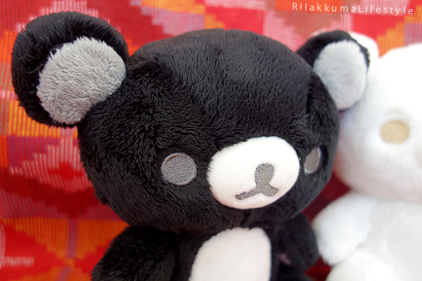 モノクロリラックマ - ぬいぐるみ - 白と黒を基調 - Monochrome Series - Rilakkuma Plush - Black and White Rilakkuma - black Rilakkuma detail