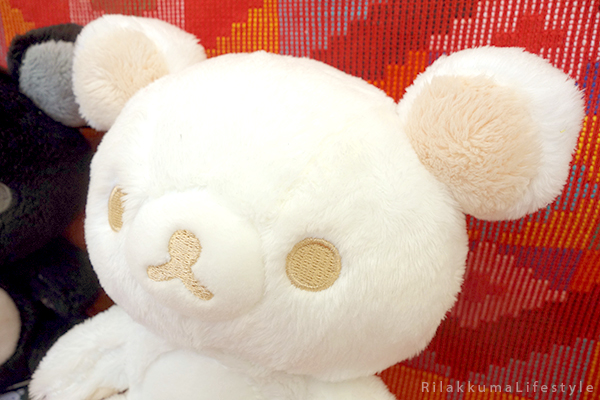 モノクロリラックマ - ぬいぐるみ - 白と黒を基調 - Monochrome Series - Rilakkuma Plush - Black and White Rilakkuma - white Rilakkuma detail