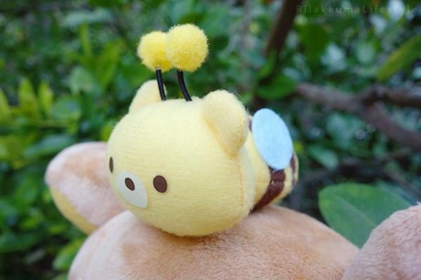 リラックマキャラバン限定商品あつめてぬいぐるみ - コリラックマと新しいお友達 - Korilakkuma's New Friend - Caravan Series - Ocarina Rilakkuma plush - bee detail