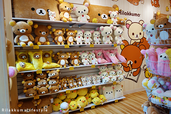 Rilakkuma Lifestyle - Rilakkuma Shop - Soft Opening - Westfield Brandon Center Mall Florida - First Rilakkuma Shop in US - Classic shelf