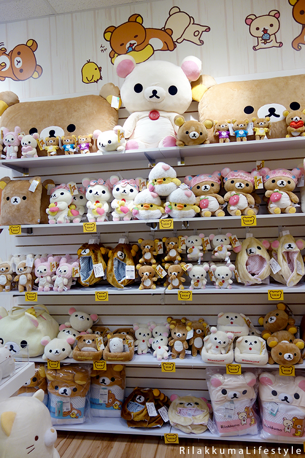 Rilakkuma Lifestyle - Rilakkuma Shop - Soft Opening - Westfield Brandon Center Mall Florida - First Rilakkuma Shop in US - bath and bunny shelf