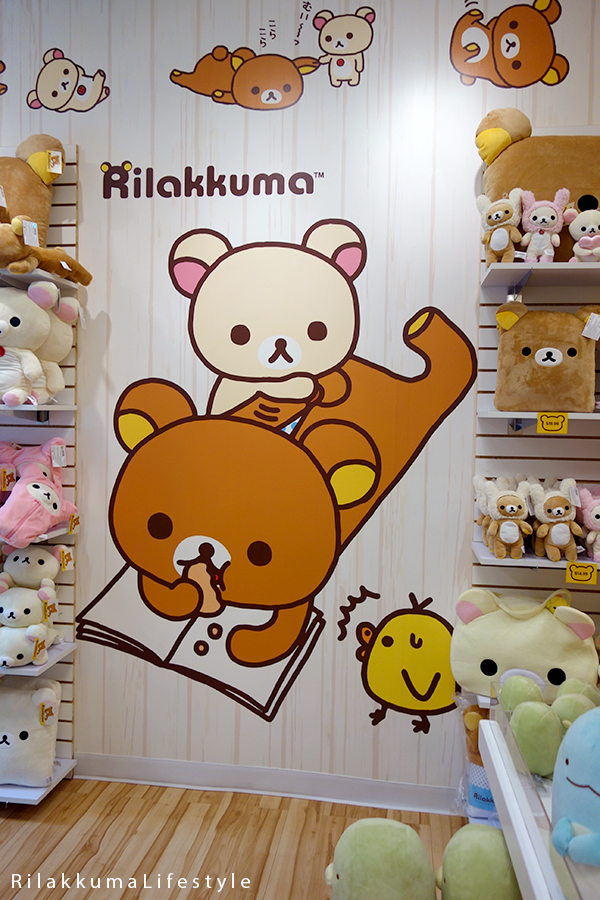 Rilakkuma Lifestyle - Rilakkuma Shop - Soft Opening - Westfield Brandon Center Mall Florida - First Rilakkuma Shop in US - Wall display
