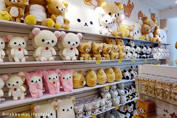 Rilakkuma Lifestyle - Rilakkuma Shop - Soft Opening - Westfield Brandon Center Mall Florida - First Rilakkuma Shop in US - right shelf