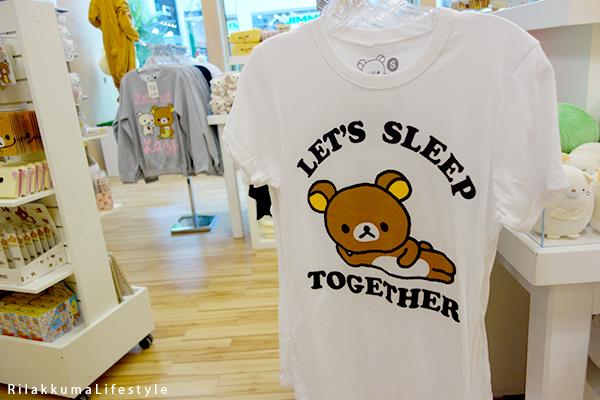 Rilakkuma Lifestyle - Rilakkuma Shop - Soft Opening - Westfield Brandon Center Mall Florida - First Rilakkuma Shop in US - Let's Sleep Together shirt