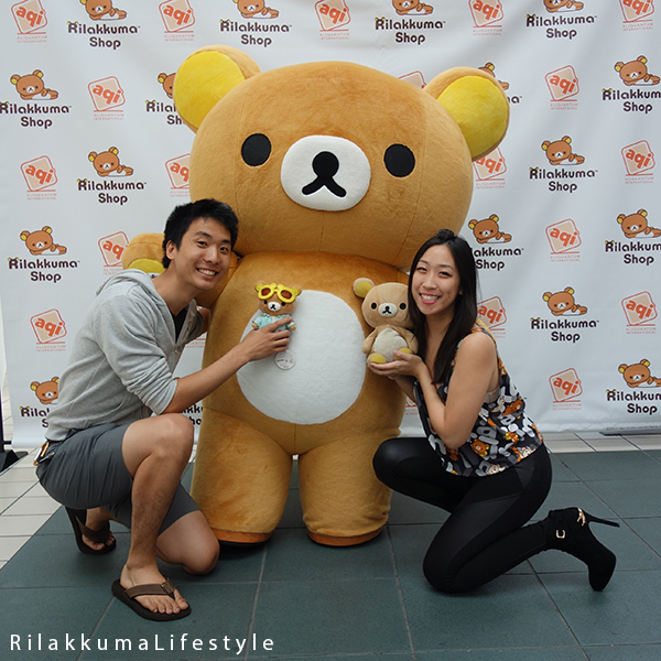 Rilakkuma Lifestyle - リラックマ - Rilakkuma Shop - Grand Opening - Westfield Brandon Center Mall Florida - First Rilakkuma Shop in US - meeting jumbo Rilakkuma mascot