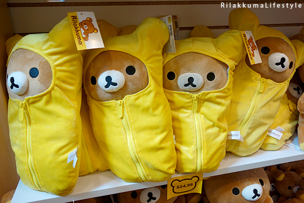 Rilakkuma Lifestyle - リラックマ - Rilakkuma Shop - Grand Opening - Westfield Brandon Center Mall Florida - First Rilakkuma Shop in US - yellow sleeping bag Rilakkuma