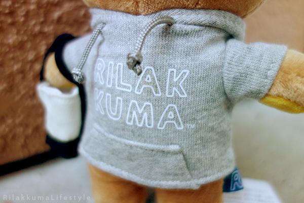 リラックマ - リラックマカジュアル - リラックマぬいぐるみ - Rilakkuma plush - Rilakkuma Casual plush - Rilakkuma Casual Series - Beanie Rilakkuma - Hoodie Rilakkuma - Tote bag Rilakkuma - front hoodie detail