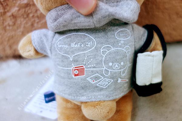 リラックマ - リラックマカジュアル - リラックマぬいぐるみ - Rilakkuma plush - Rilakkuma Casual plush - Rilakkuma Casual Series - Beanie Rilakkuma - Hoodie Rilakkuma - Tote bag Rilakkuma - back hoodie detail