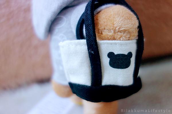 リラックマ - リラックマカジュアル - リラックマぬいぐるみ - Rilakkuma plush - Rilakkuma Casual plush - Rilakkuma Casual Series - Beanie Rilakkuma - Hoodie Rilakkuma - Tote bag Rilakkuma - tote bag motif detail
