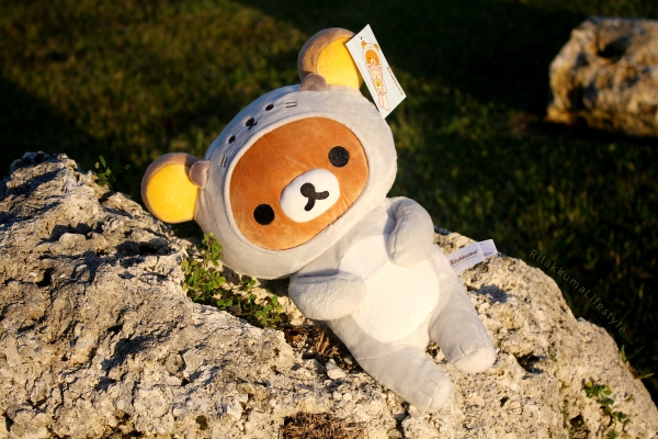 Rilakkuma Lifestyle - Rilakkuma plush - Sea otter series - stuffed animal - cute - kawaii - だららっこ - リラックマ あつめてぬいぐるみ - close full