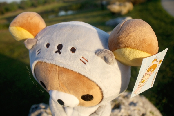 Rilakkuma Lifestyle - Rilakkuma plush - Sea otter series - stuffed animal - cute - kawaii - だららっこ - リラックマ あつめてぬいぐるみ - hood ears detail