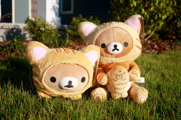 Rilakkuma Lifestyle - Rilakkuma plush - Tiger series - taiyaki - cat series - stuffed animal - cute - kawaii - のんびりネコ - リラックマ ぬいぐるみ - both full