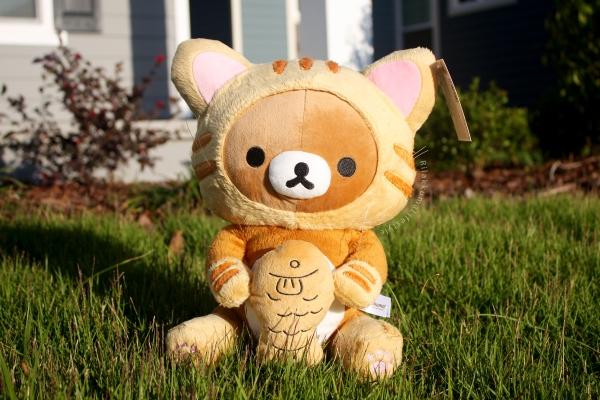 Rilakkuma Lifestyle - Rilakkuma plush - Tiger series - taiyaki - cat series - stuffed animal - cute - kawaii - のんびりネコ - リラックマ ぬいぐるみ - tiger eating fish taiyaki full