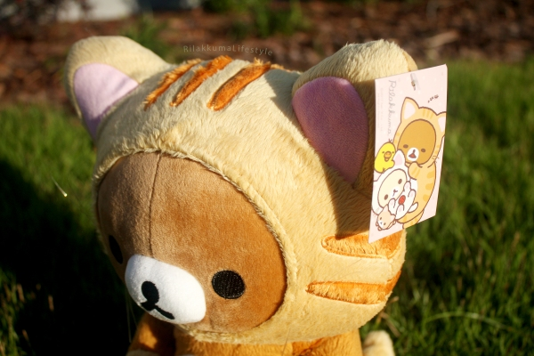 Rilakkuma Lifestyle - Rilakkuma plush - Tiger series - taiyaki - cat series - stuffed animal - cute - kawaii - のんびりネコ - リラックマ ぬいぐるみ - hood head and tag art