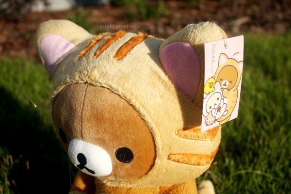 Rilakkuma Lifestyle - Rilakkuma plush - Tiger series - taiyaki - cat series - stuffed animal - cute - kawaii - のんびりネコ - リラックマ ぬいぐるみ - hood head and tag art